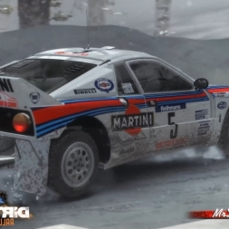 DiRT Rally Sweden Älgsjön (Snow) Sprint Lancia 037 Wheel G25 60FPS