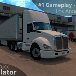 American Truck Simulator - #1 Gameplay - First Drive (Los Angeles-Primm)