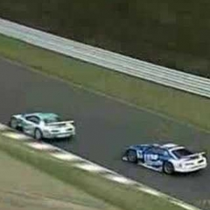 Super GT/JGTC - Sugo 2003 - Final Laps - Wakisaka vs Comas