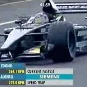 F1 Suzuka 2001 Fernando Alonso Minardi European PS01