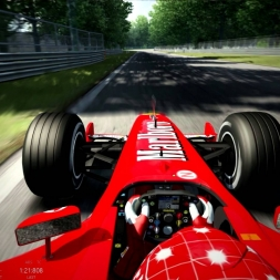 Michael Schumacher onboard with the F2002 on Assetto Corsa (Monza GP)