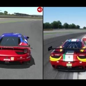 rFactor 2 vs Assetto Corsa - Ferrari 458 GT2 @ Silverstone