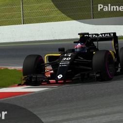 rFactor F1 2016 Palmer Onboard Barcelona