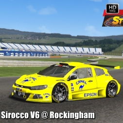 Volkswagen Sirocco V6 @ Rockingham Driver's View - Stock Car Extreme 60FPS