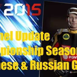 F1 2015 Grosjean Championship Season Japan and Russia