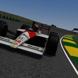 Assetto Corsa McLaren MP4/4 | Ayrton Senna onboard Interlagos