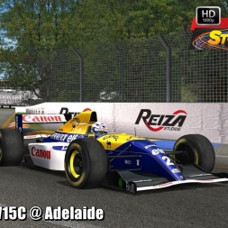 Williams FW15C @ Adelaide Driver's View - Stock Car Extreme 60FPS