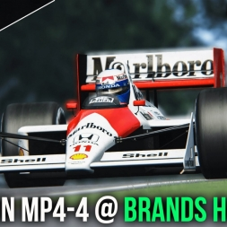 Assetto Corsa | Mclaren MP4/4 at Brands Hatch GP (60FPS)