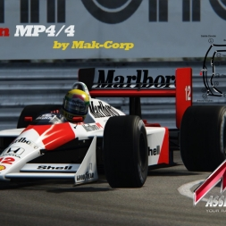 Assetto Corsa Gameplay McLaren MP4/4 Mod AT Monaco 1988 [T500RS] [Wheelcam]