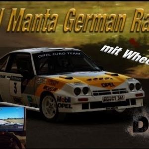DiRT Rally - Opel Manta 400 Germany: Flugzeugring Gameplay  [1080p] [Wheelcam] [Handbremse]
