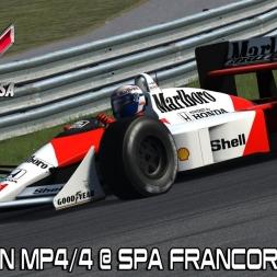Assetto Corsa Mods - New McLaren Mp4/4 @ Spa Francorchamps