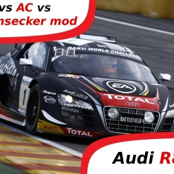 pCars vs AC vs R3E vs Fonsecker - Audi R8 LMS Ultra Sound Comparsion