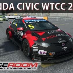 Raceroom Gameplay - Honda Civic WTCC | Corrida | Comentado | G27
