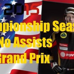 F1 2015 Romain Grosjean Championship Season USA
