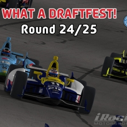 """iRacing: What a Draftfest!"" (IndyCar Winter Series Round 24: Auto Club Speedway)"