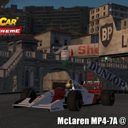 McLaren MP4/7A @ Monaco 1967 Driver's View - Stock Car Extreme 60FPS