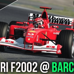 Assetto Corsa | Ferrari F2002 at Circuit de Barcelona (Old Layout) | 60FPS