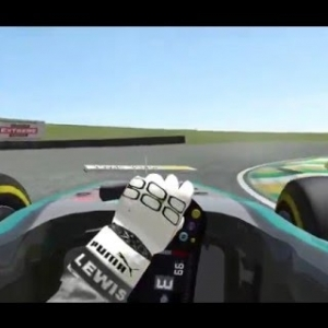 rFactor 2 - Mercedes Benz F1 W06 Hybrid at Sao Paulo