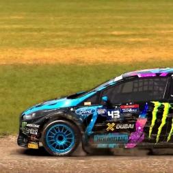 Dirt Rally - Monster FIA World Rally Cross Gamplay - Lydden Hill 1st Semi Final