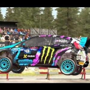Dirt Rally - Monster FIA World Rally Cross Gameplay - Höljes Semi Final