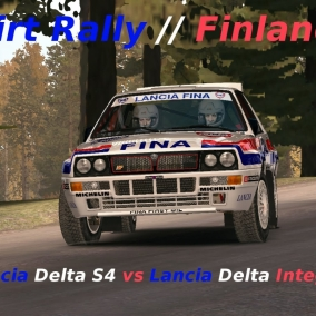 Dirt Rally // Lancia Delta Integrale vs Lancia Delta S4 // Oksala