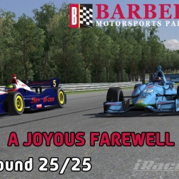 """iRacing: A Joyous Farewell"" (IndyCar Winter Series Round 25: Barber Motorsports Park)"