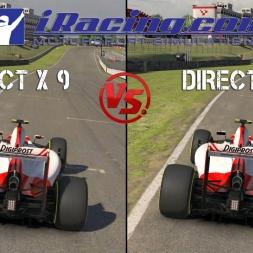 IRACING COMPARATIVE - DX9 VS DX11 FORMULA 1 @ BRANDS HATCH