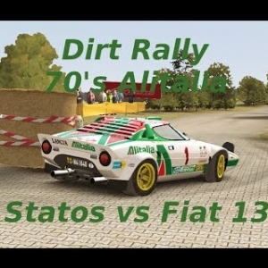 Dirt Rally // 70's Alitalia skins // Stratos + Fiat 131 // Germany // Onboard + TV