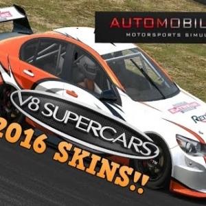Automobilista V8 Supercars 2016 skins!