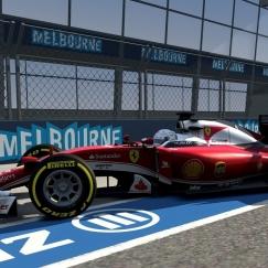 Assetto Corsa tests - Ferrari SF15-T at Melbourne GP (1:32:067)