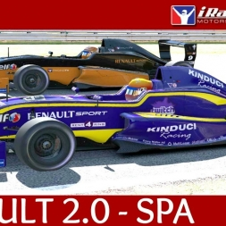 iRacing Renault Formula 2.0 at Spa Francorchamps - First official race