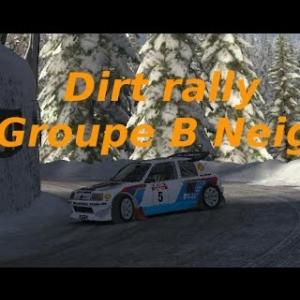 Dirt Rally // Présentation Groupe B // Neige