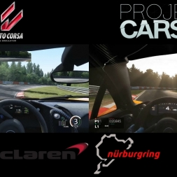 McLaren P1 @ Nordschleife | Project Cars vs Assetto Corsa | Onboard