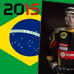 F1 2015 Romain Grosjean Brazil Championship Season + 2016 Qualifying Reaction