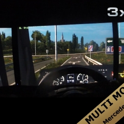 Euro Truck Simulator 2 | MULTI MONITOR SUPPORT TEST | multimon_config.sii