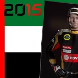 F1 2015 Romain Grosjean Abu DHabi