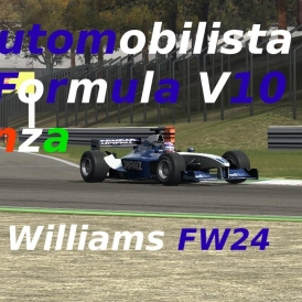 Automobilista // Formula V10 // Williams FW24 // Monza // Onboard + TV + Hot Lap