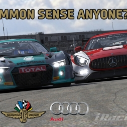 """iRacing: Common Sense Anyone???"" (Blancpain Sprint Series/Audi R8 LMS at Indianapolis Road Course)"