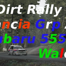 Dirt Rally // Lancia Delta Integrale vs Subaru 555 // Wales