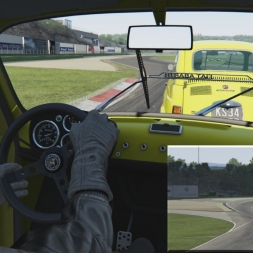 Assetto Corsa 1.5! Online Battle in Abarth 596 S2: The Last 2 Laps - Vallelunga Classic