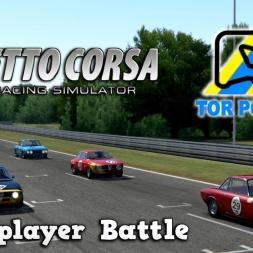 Assetto Corsa | Multiplayer | Lancia Fulvia vs Alfa Romeo GTA Battle @ Poznan