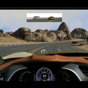 Assetto Corsa Corvette C7 Stingray at Black Cat County Short