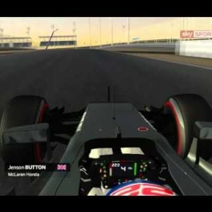 rFactor F1 2016 | Jenson Button OnBoard at Bahrain