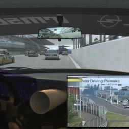 RaceRoom: Opel Omega 3000 Evo 500 DTM vs Nordschleife VLN (AI 120%) -  Real Wheel Overlay