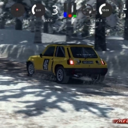 DiRT Rally Renault 5 TURBO Sweden Snow Telemetry