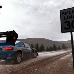 Dirt Rally gameplay Pikes Peak Climb Dance fail replay view