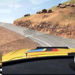 Dirt Rally Pikes Peak 100 % Asphalte Peugeot 205 T16 8 : 44 : 029 (wheelcam)