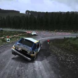 DiRT Rally:  Quadruple Barrel Roll & Win!
