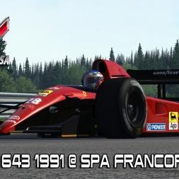 New Ferrari 643 1991 @ Spa Francorchamps - Assetto Corsa Mods