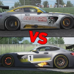 Project CARS vs Assetto Corsa  - Mercedes-AMG GT3 @ Imola
